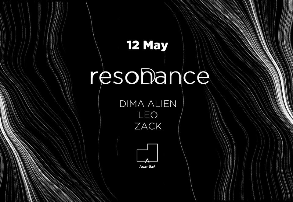 flyer for resonance (deep house party) at acanbai center on 12th may 2018