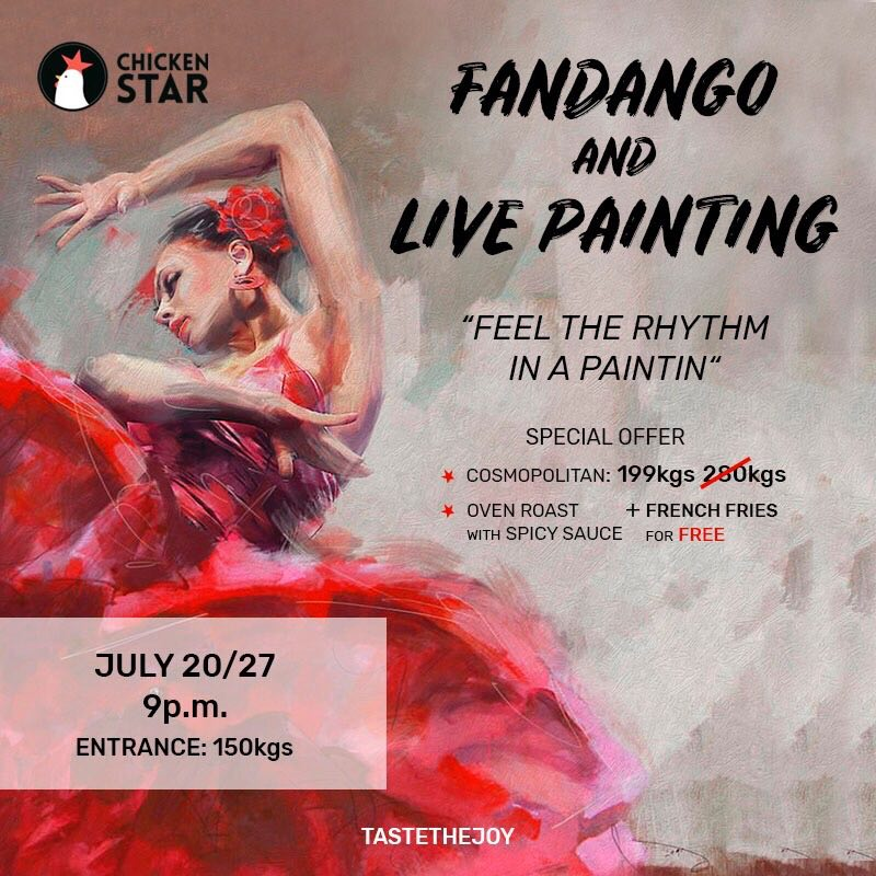 Live Painting Event and Fandango Live Music.